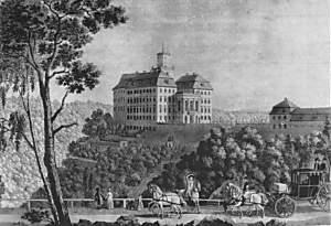 Zamek ok. 1800 r.