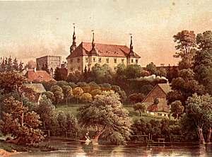 Zamek wg litografii z XIX wieku